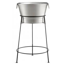 TableCraft - BT2137N - Beverage Tub with Black Stand