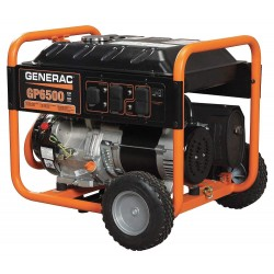 Generac - 5940 - Generac 5940 Generator, 6.5kW, Portable, Manuel Recoil Start, Gasoline, Limited Quantities Available