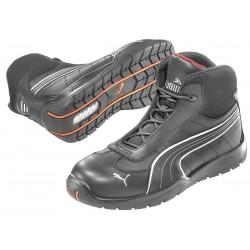 Puma - 632165-06 - 6H Men's Athletic Style Work Boots, Steel Toe Type, Leather Upper Material, Black, Size 6EE