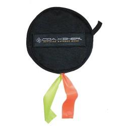 Coaxsher - OS600 - Dual Flagging Tape Dispenser, Black, Holds (2) 3 x 1000 ft. Roll, 1 EA