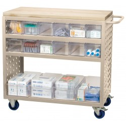 Akro-Mils / Myers Industries - MA3618PASTCRY - Putty Lou-cart 36x18x36 W/16bn, Ea