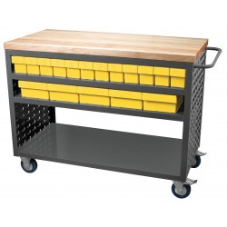 Akro-Mils / Myers Industries - MA4824C2YEL - 37-1/2H x 24W Steel Louvered Cart, 800 lb. Load Capacity, Total Number of Bins: 32