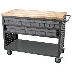 Akro-Mils / Myers Industries - MA4824C2GRY - 37-1/2H x 24W Steel Louvered Cart, 800 lb. Load Capacity, Total Number of Bins: 32