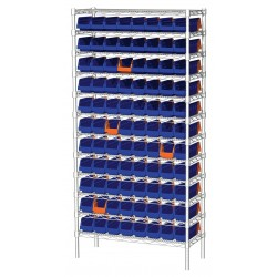 "Akro-Mils / Myers Industries - AWS143636442B - 36"" x 14"" x 74"" Bin Shelving with 2000 lb. Load Capacity"