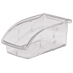 "Akro-Mils / Myers Industries - 305A3 - Akro-Mils Insight Ultra Clear Supply Bin - Internal Dimensions: 6.25"" Length x 3.13"" Width x 2.63"" Height - External Dimensions: 7.4"" Length x 4.1"" Width x 3.3"" Height - 10 lb - Stackable - Polycarbonate - Clear -"