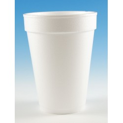 Wincup - 14C18 - 14 oz. Disposable Cold/Hot Cup, Foam, White, PK 1000