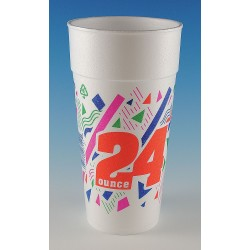 Wincup - 24C18 PP - 24 oz. Disposable Cold/Hot Cup, Foam, White, PK 300