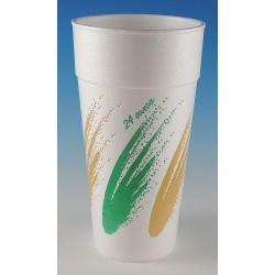 Wincup - 24C18SIM LL - 24 oz. Disposable Cold/Hot Cup, Foam, White, PK 300