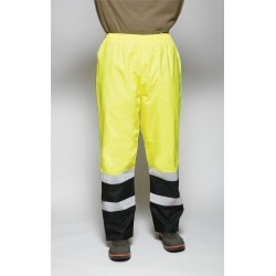 Utility Pro Wear - UHV452PX-4XL-32 - Hi-Vis Rain Pants, Black/Hi-Vis Ylw, 4XL