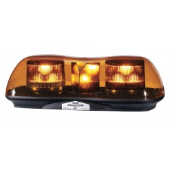 PSE Amber - 420LAS - Amber Mini Lightbar, LED Lamp Type, Magnetic/Suction Mounting, Number of Heads: 2