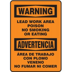Accuform Signs - SBMSMK027VS - No Smoking, Warning/Advertencia, Vinyl, 14 x 10, Adhesive Surface, Not Retroreflective