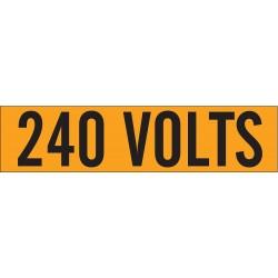 Brady - 44110 - Brady 2 1/4 X 9 Black/Orange Coated Fabric Vinyl Label 240 VOLTS, ( Each )