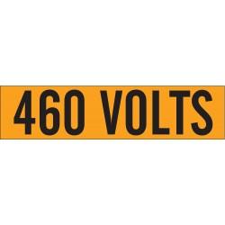 Brady - 44114 - Brady 2 1/4 X 9 Black/Orange Coated Fabric Vinyl Label 460 VOLTS, ( Card )