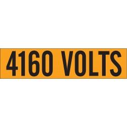 Brady - 44122 - Brady 2 1/4 X 9 Black/Orange Coated Fabric Vinyl Label 4160 VOLTS, ( Each )