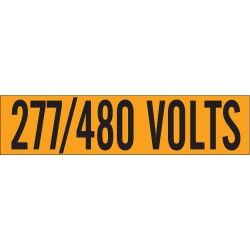 Brady - 44160 - Conduit and Voltage Markers, Markers per Card: 1, 9 x 2-1/4, 277/480 Volts Legend