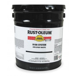 Rust-Oleum - 9192300 - White Epoxy Paint, Gloss Finish, 125 to 225 sq. ft./gal. Coverage, Size: 5 gal.