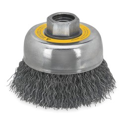 Dewalt - DW4922 - DeWALT DW4922 5'' Crimped Cup Brush / Carbon Steel 5/8''-11 Arbor 0.02