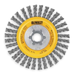 "Dewalt - DW4925 - 4"" Stringer Bead Wire Wheel Carbon Steel 5/8-11"