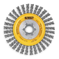 Dewalt - DW4925 - DeWALT DW4925 4'' Stringer Bead Wire Wheel / Carbon Steel 5/8''-11 Arbor 0.02