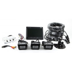 RVS Systems - RVS-082509 - Rear View Camera System, (3) Camera Setup