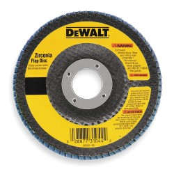 "Dewalt - DW8310 - 4-1/2"" Arbor Mount Flap Disc, Type 29, Zirconia Alumina, 120 Grit, 7/8"" Mounting Size"