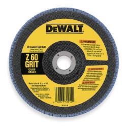 "Dewalt - DW8323 - 7"" Arbor Mount Flap Disc, Type 29, Zirconia Alumina, 60 Grit, 7/8"" Mounting Size, High Performance"
