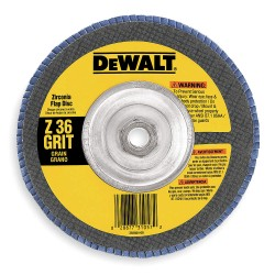 Dewalt - DW8327 - DeWALT DW8327 7'' x 5/8''-11 Threaded Hub 36 Grit type 29 HP Flap Disc (5 pack)
