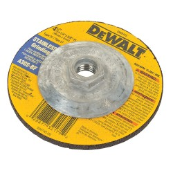 Dewalt - DW8415 - 4-1/2 Type 27 Aluminum Oxide Depressed Center Wheels, 5/8-11 Arbor, 1/4-Thick, 13, 300 Max. RPM
