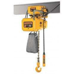 Harrington Hoists - NERM010S-L-15 - H4 Electric Chain Hoist, 2000 lb. Load Capacity, 230/460V, 15 ft. Hoist Lift, 28 fpm