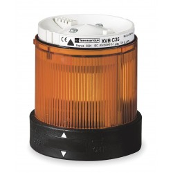 Telemecanique / Schneider Electric - XVBC35 - 240VAC Incandescent or LED Tower Light Module Steady with 70mm Dia., Amber