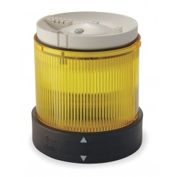 Telemecanique / Schneider Electric - XVBC38 - 240VAC Incandescent or LED Tower Light Module Steady with 70mm Dia., Yellow