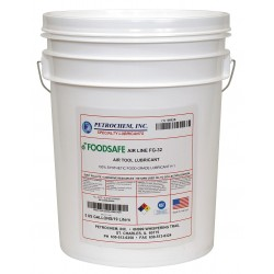 Petrochem - FOODSAFE AIR LINE FG-32-005 - Air Tool Oil, 5 gal. Container Size