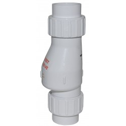 Zoeller - 30-0040 - 1-1/2 Full Flow Check Valve, PVC, Solvent Weld Connection Type