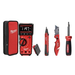 Milwaukee Electric Tool - 2220-20 - Digital Multimeter- Ledvoltage Dector- Fastbac