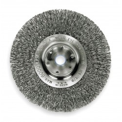 Weiler - 01299 - Arbor Hole Wire Wheel Brush, Crimped Wire, 12 Brush Dia.