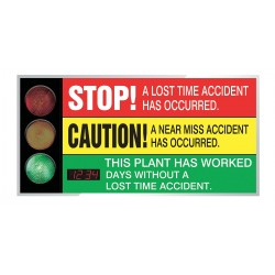 Accuform Signs - SCT321 - Safety Scoreboard, 36 x 72In, AL/PLSTC, ENG