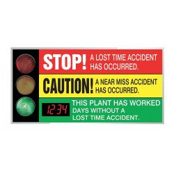 Accuform Signs - SCT323 - Safety Scoreboard, 36 x 72In, AL/PLSTC, ENG