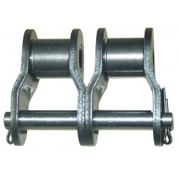 Tsubaki - 35-2 OFFSET LINK - Double Strand Offset Roller Chain Link, ANSI Chain Size: 35-2, Carbon Steel, PK 5