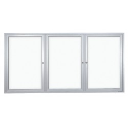 United Visual - UV855-SATIN - Enclosed Bulletin Board, Wet/Dry , 36x72