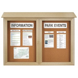 United Visual - UVDD4530-SAND - Enclosed Bulletin Board, Tack, 30x45