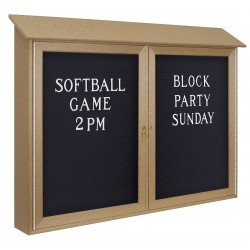 United Visual - UVDD4530LB-CEDAR - Outdoor Enclosed Bulletin Board, Letter Board, Cedar Board Color, 45 Width, 30 Height