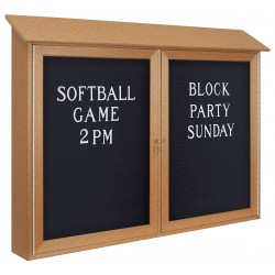 United Visual - UVDD4530LB-SAND - Outdoor Enclosed Bulletin Board, Letter Board, Sand Board Color, 45 Width, 30 Height