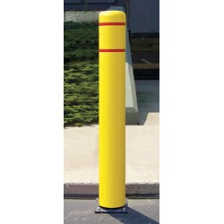 Encore Commercial / Post Guard - 111CM - 52 Spring Mount Galvanized Steel Flexible Bollard with 7-7/16 Outside Dia., Silver