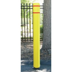 Encore Commercial / Post Guard - 122CM - 72 Spring Mount Galvanized Steel Flexible Bollard with 7-7/16 Outside Dia., Silver