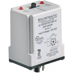 Macromatic - ARP120A3R - Alternating Relay, 10 Amps, 120VAC, 8 Pins, DPDT Cross-Wired