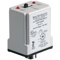 Macromatic - ARP120A6R - Alternating Relay, 10 Amps, 120VAC, 8 Pins, SPDT