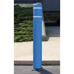 Encore Commercial / Post Guard - 111CMB - 52 Spring Mount Galvanized Steel Flexible Bollard with 7-11/32 Outside Dia., Silver