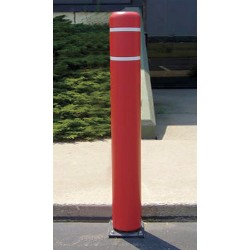 Encore Commercial / Post Guard - 111CMR - 52 Spring Mount Galvanized Steel Flexible Bollard with 7-11/32 Outside Dia., Silver