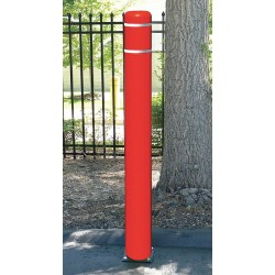 Encore Commercial / Post Guard - 122CMR - 72 Spring Mount Galvanized Steel Flexible Bollard with 7-11/32 Outside Dia., Silver