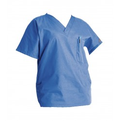 Landau Uniforms - 70221 - Scrub Shirt, Blue, Womens, XS